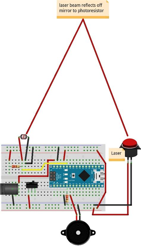 build  laser tripwire  arduino