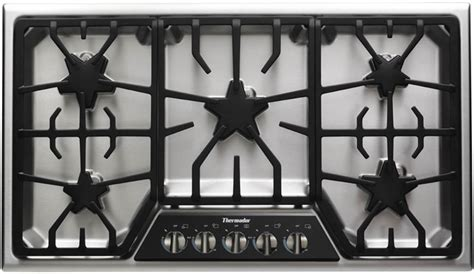 thermador sgsxfs   gas cooktop   star burners  extralow simmer burners