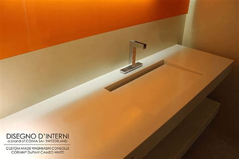 andreoli corian washstand consolle andreoli corian 174 solid surfaces