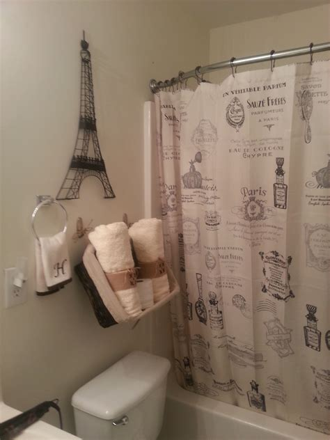 paris themed bathroom shower curtains  eiffel tower decor bathroom decor paris theme