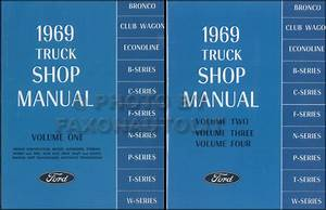1969 Ford Truck Repair Shop Manual Set Original Pickup