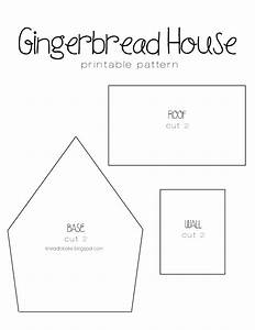 Small Gingerbread House Template