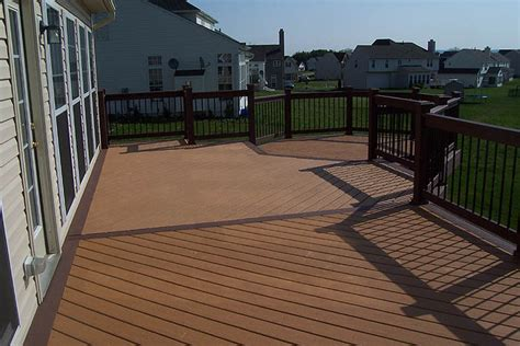 Moisture Shield Decking Vs Trex by Moisture Shield Composite Decks Photos Lehigh Valley