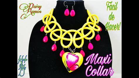 Maxi Collar Curso de Alambrismo Básico Vídeo 7 DIY YouTube