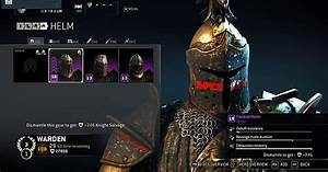 Collection Of Some Of The Heroic Gear For Warden   Forhonor