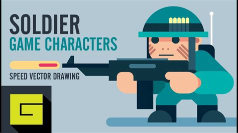 Speed Drawing How to draw Game Character Soldier Adobe