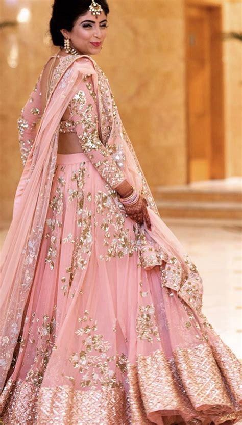beautiful pink lehenga ideal   pre wedding functions