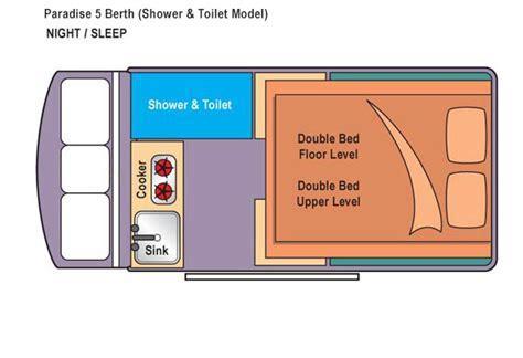 Motorhome, Campervan & RV Rental   5 Person with bathroom