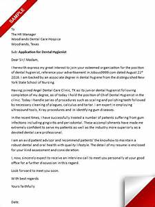 Examples Of A Letter Of Recommendation Dental Hygiene Cover Letter Sample Lettering