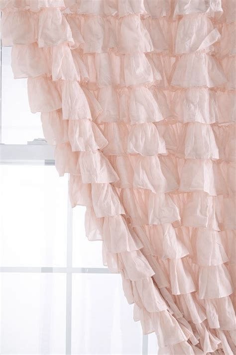 pink ruffled window curtains ruffled curtain bedrooms