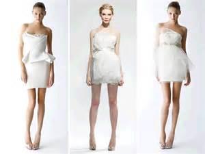 mini wedding dresses mini white wedding reception dresses by marchesa onewed