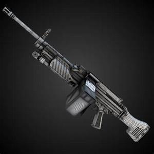 MG4 Machine Gun Hi-Res 3D Model max obj fbx lwo lw