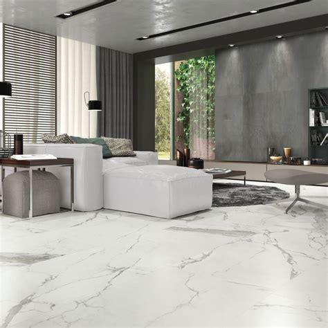 carrelage marbre blanc carrelage sol et mur aspect marbre statuario mat 30x60 cm