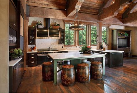 arts and crafts kitchen cabinets cabin decor rustic interiors and log cabin decorating ideas