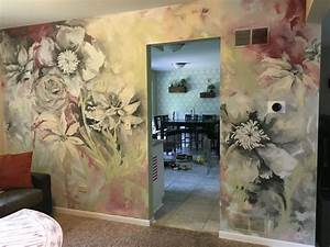 Floral, Wall, Mural