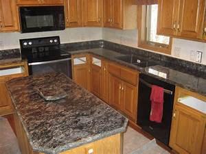Granite Countertops Overlay Medallion Gold Cabinetry