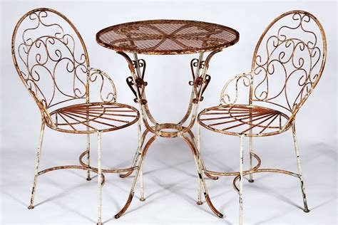 wrought iron bistro table 2 chairs set