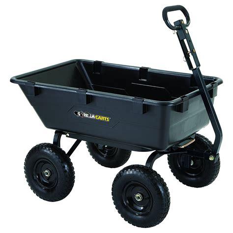 best garden cart gorilla cart heavy duty yard and garden dump cart the