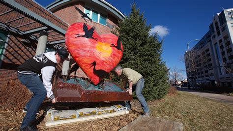 heart university hosts sculptures celebrating