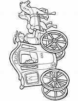 Coloring Pages Carriage Cinderella Princess Popular sketch template