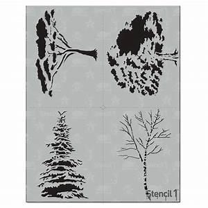 Stencil1, Trees, Stencil, 4-pack, -s1, 4p, 18