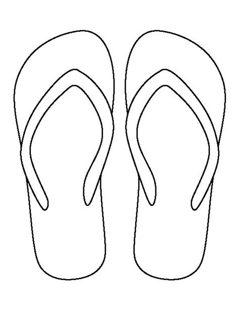 flip flop template flip flop pattern use the printable outline for crafts creating stencils scrapbooking and