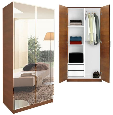 Mirrored Wardrobe by Alta Wardrobe Closet Half And Half Contempo Space