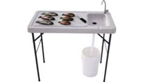 fish cleaning table with sink bass pro portable sink on solar shower cing chairs