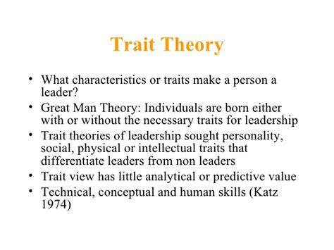 Qualities For A by Theories Of Leadership