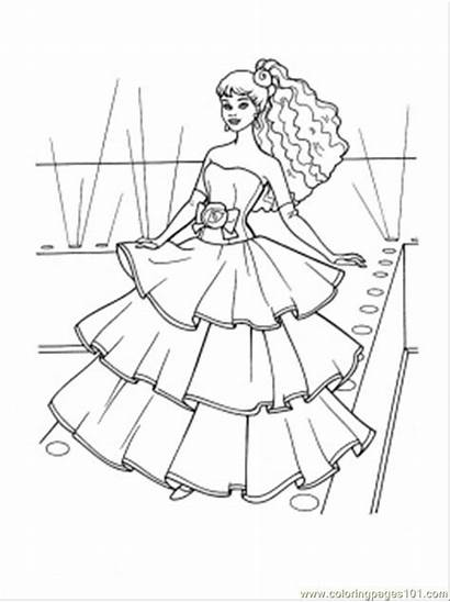 Coloring Pages Dresses Flamenco Printable Clothing Pretty