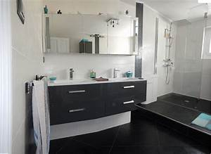 Faience Blanche Salle De Bain : charmant salle de bain noir et blanche et modele faience ~ Dailycaller-alerts.com Idées de Décoration