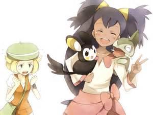 Pokemon Iris Axew and Emolga