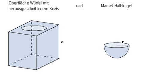 volumen und oberflaechenberechnung bettermarks