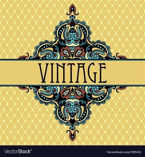 Elegance Luxuuy Vintage Vignette Design Royalty Free Vector