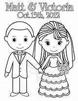 Groom Bride Coloring Pages Getdrawings sketch template