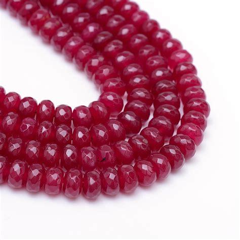 15 achat perlen edelsteine natural 8mm ruby rot rondell
