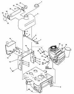 Bunton  Bobcat  Ryan 930323 Power Unit 17hp Kawasaki Hydro Parts Diagram For Upper Engine Deck Assy