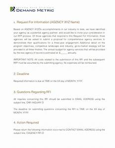 modern sample rfi template images example resume ideas With rfi response template