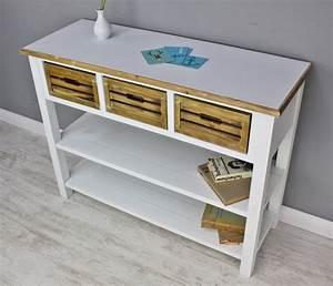 Sideboard Braun Weiß : konsole sideboard wei braun massiv holz ~ Markanthonyermac.com Haus und Dekorationen