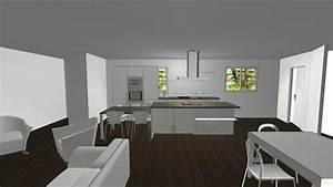 notre maison neuve idee deco salon salle a manger With idee deco pour maison 11 maison moderne maison en pierre pierre et bois