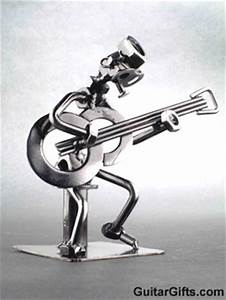 MUSIC GIFTS GUITAR FIGURINE Guitar Player Figurine Metal