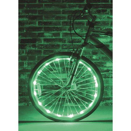 bike wheel lights walmart brightz ltd green wheel brightz led bicycle accessory