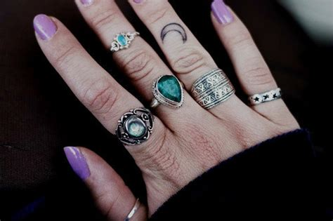 fashion hippie boho nails rings accesories wiccan pagan wicca wicked mermaid