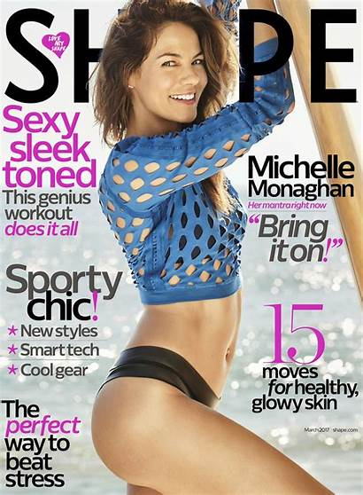 Monaghan Michelle Shape Magazine March Covers Bikini