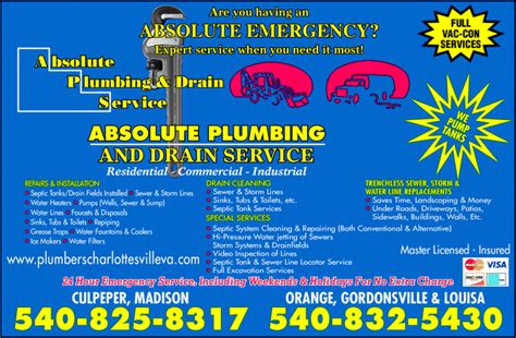 absolute plumbing nj absolute plumbing drain cleaning services inc