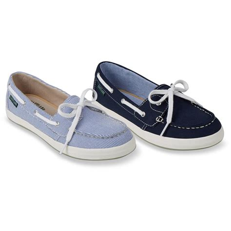 Canvas Boat Shoes by Eastland S Skip Canvas Slip On Boat Shoes 674358