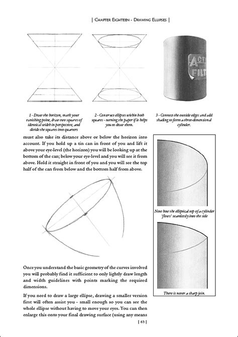 DRAWING ELLIPSES - Chapter 18 - Drawing book by Mike Sibley