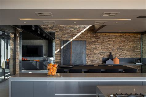 Contemporary Kitchen Stone Wall Dining Table Luxurious Interiors Inside Ideas Interiors design about Everything [magnanprojects.com]
