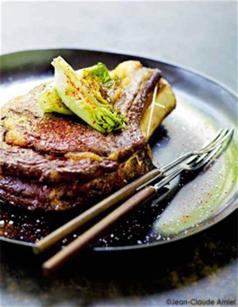 cote cuisine fr3 recette côte de bœuf au four coeurs de sucrines pour 4 personnes
