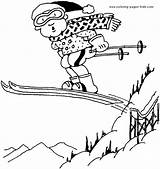 Coloring Skiing Printable Ski Others Sport Sheets Found Coloringpages101 sketch template